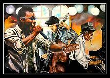 Soul Cafe ARTprint by Volker Welz signiert Klavier Piano Microphon Gesang Cello