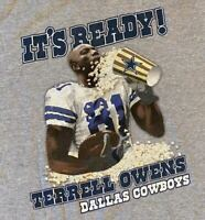 Terrell Owens Popcorn Dallas Cowboys NFL Football tee t-shirt Size XL