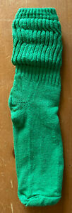 Vintage Slouch Socks Green 80s 90s Womens Sock Sizes 9-11 Scrunch Retro