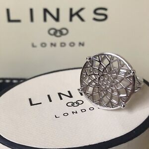 LINKS OF LONDON Timeless STERLING SILVER Coin Ring Size N 54 ~ NEW