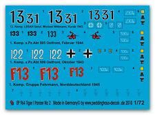 1/72 marqueurs pour tiger I Char no 2 964