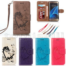 Flip Patterned PU Leather Strap Wallet ID Card S lot Stand Case Cover Bumper RS