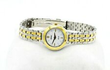 SEIKO SOLAR V115-0AX0 WOMEN'S TWO TONE STAINLESS STEEL WRIST WATCH NWT