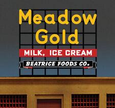 Miller Engineering (HO/N Scale) #44-1952 MEADOW GOLD Billboard Sign - NIB