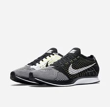 NEW! Nike Flyknit Racer Running Shoes Black / White Sz 13 526628 011