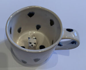 New Anthropologie Peeping Dog Pet Spotted Mug-