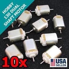 10x 130 Dual Shaft Mini DC Brushed Motor 1.5-6V Hobby Toy Robot 12K RPM 10pcs