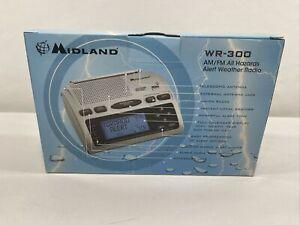 Midland WR300 NOAA Weather Alert Radio Alarm w/ WARNING VISUAL STROBE LIGHT. NOS