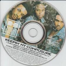 H-Town: Keepin My Composure PROMO MUSIC AUDIO CD Remix Vocal Bonus 6trk PR-473-2