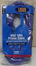 Ixos IEEE 1284 DB 25 pin Male Centronics 36 pin Male Parallel Printer Cable 10m