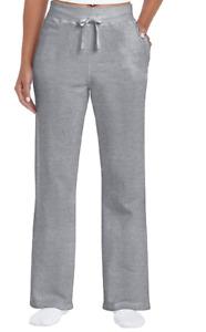 Glidan 2X Heavy Blend Open Botton Bottom Pocket Fleece Lined Sweat Pants Gray