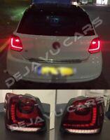 Full LED Tail Lights VOLL LED Rückleuchten kirschrot für Volkswagen Polo 5 6R 6C
