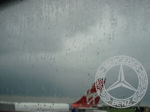Mercedes Benz Etched Glass Effect Window ,screen graphic Stickers x,2
