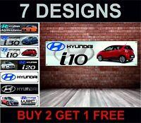 Hyundai i10 PVC Poster Officina,Garage,Concessionario & Camera da Letto Ufficio