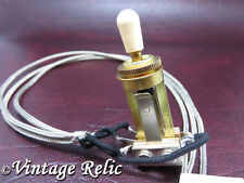 Wired Toggle Switch 3 way Switchcraft GOLD USA fits Gibson Les Paul Custom