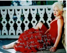 CYNDI LAUPER signed autographed photo GREAT CONTENT RARE!
