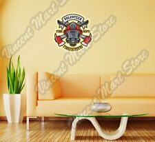 "Firefighter Fire FD Department Volunteer Wall Sticker Room Interior Decor 22""."