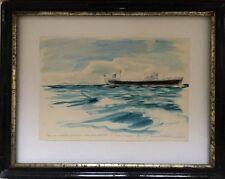 Philippe DAUCHEZ 1900-1984.POM.Le Salomé.Aquarelle.1949.SBD.Titrée,située.16x24.