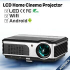 HD LED Android Wifi Projector Wireless Home Use Movie Game Party HDMI USB VGA AU
