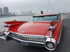 Classic Car Cadillac Sedan de Ville 1959 Flatroof Red
