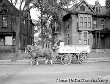Wagon Hauling 6-Horse Lager Beer, Minneapolis, MN - 1939 - Historic Photo Print