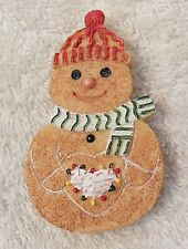 Vintage Repro Christmas Pin Brooch Happy Snowman Santa Tree Hat Scarf Resin Ch14