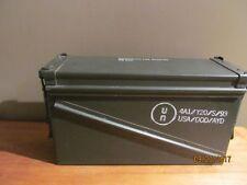 New listing Vintage Military Green Metal Box Storage 1310013191541B542 32 Cartridge Box only
