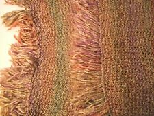 Hand Knitted Shawl Wrap Lap Blanket Soft and Cozy Fringes