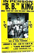 B.B. KING 1956 @ CAFE ROYALE LAKE CHARLES, LA 2ND PRINT POSTER SCARCE