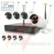 KIT VIDEOSORVEGLIANZA 4 TELECAMERE NVR LAN REMOTO 3G WIRELESS FULL WIFI HD IP4