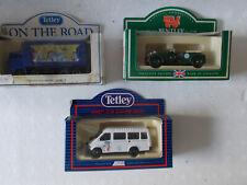 Lledo Diecast Tetley Tea advertising job lot Coach, Bentley, Lorry.