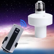 E27 Screw Wireless Remote Control Light Lamp Bulb Holder Cap Socket Switches PC