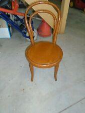 Petite chaise d'enfant ancienne, chaise bois courbé, chaise Thonet