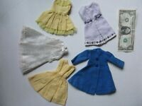 NICE Lg Lot of Vintage 1960's Handmade Doll Clothes & Outfits, Barbie Size