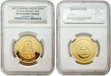 Shawnee Tribe 2003 George Drouillard $50 1/2 oz Gold Coin NGC PF-69