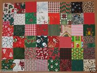 CLOSEOUT NEW 125 EACH 3 INCH CHRISTMAS QUILT SQUARES COTTON
