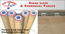50% Fence Scaffold Mesh Shade Cloth 1.83m x 50m SANDSTONE SHADECLOTH w/Eyelets