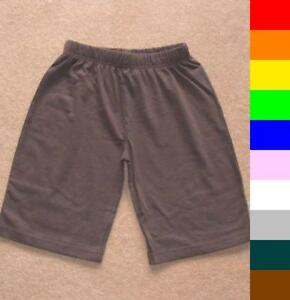 BNWT boys / girls plain cotton shorts - 10 colours