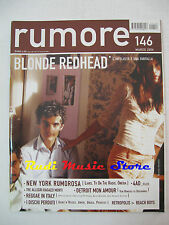 Rivista RUMORE 146/2004 Blonde Redhead  Oneida Prodigy Tv On The Radio * No cd