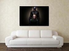 BATMAN & I Joker - 30x20 Inch canvas-QUADRO INCORNICIATO STAMPA ARTE