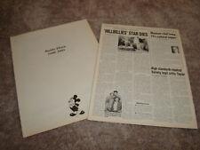 BUDDY EBSEN 1908-2003 tribute ad and article, Beverly Hillbillies, Barnaby Jones