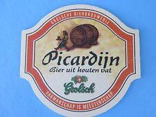 Beer Coaster ~ GROLSCH Bierbrouwerij Picardijn Dubbel Bier ~ The Netherlands