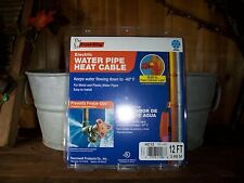 FROST KING ELECTRIC WATER PIPE HEAT CABLE 12 FOOT -40 DEGREES PLUMING HEATER NEW