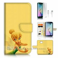 ( For Samsung S7 Edge ) Wallet Case Cover P3235 TinkerBell