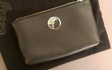 Versace Collection Medusa Logo Leather Wristlet Handbag