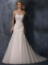 Tulle A-line Unbranded Strapless Wedding Dresses