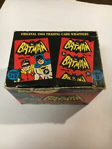 Batman deluxe Reissue edition 1966 trading card set 1 and 2 in box 1989 Topps