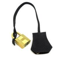 HERMES Cadena Key Cover of key Set Bag Charm Gold Taurillon Clemence 37784