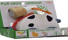 Children Pull Along Wooden Spotty Dog From Wise Cube For Pre-School/Young Kids