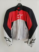 Alpinestars Armored textile red, black, gray Stunt Motorcycle Jacket Men's Sz M
